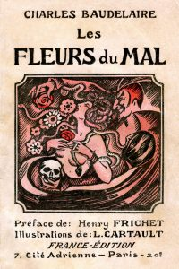 """Couverture du recueil poetique de Charles Baudelaire """"Les Fleurs du Mal"""", illustration de L. Cartault, France-Edition debut 20e siecle. ©Gusman/Leemage"""